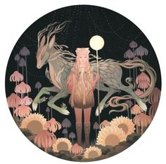 Fun art style, I love the deer! By Amy Sol