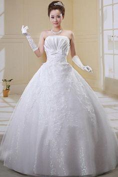 Tüll Eleganten Trägerlosen Brautkleider ba0372 - http://www.brautmode-abendkleid.de/tull-eleganten-tragerlosen-brautkleider-ba0372.html - Ausschnitt: Trägerlos. Stoff: Tüll. Ärmel: Ärmellos. Farbe: Weiß. Silhouette: Ballkleid. - 205.59