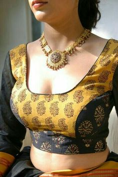 Latest Blouse Designs 2019 - Designer Blouses Design Photos Find a variety of latest blouse designs 2020 photos for bride & women at Shaadidukaan. Here you will get a large collection of designer bridal blouses designs you have never seen before. Blouse Back Neck Designs, Sari Blouse Designs, Fancy Blouse Designs, Bridal Blouse Designs, Choli Designs, Blouse Patterns, Blouse Styles, Latest Blouse Designs, Choli Blouse Design