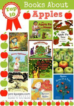 Top 10 Apple Books for #preschool and #kindergarten
