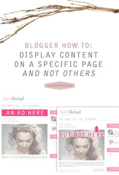 Blogger How To: Display Content or a Widget on a Specific Page and Not Others