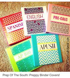 Preppy binder covers