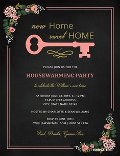 House Warming Party Invitation Template Awesome Chalkboard Housewarming Invitation Design Template In Word Housewarming Invitation Templates, Birthday Invitation Templates, Printable Invitations, Chalkboard Invitation, Invitation Maker, Invitation Design, Invitation Ideas, Brunch Invitations, Wedding Invitations