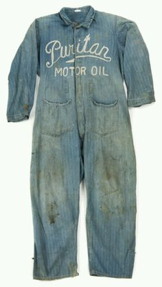 Vintage denim coveralls