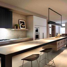 Minimal Kitchen Design Inspiration is a part of our furniture design inspiration series. Minimal Kitchen design inspirational series is a weekly showcase Küchen Design, Design Case, House Design, Design Ideas, Design Inspiration, Kitchen Living, New Kitchen, Kitchen Decor, Kitchen Ideas
