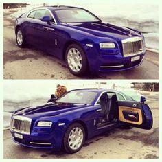 Purple Blue Rolls Royce Wraith