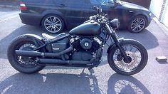 Yamaha xvs650 dragstar bobber matt black 1999 long MOT
