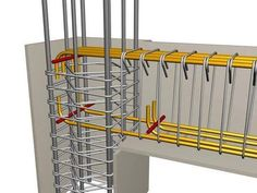 A rebar can be described as a steel bar with ridges, which is being incorporated in the reinforced concrete to provide the required shape to the structural project. The rebar is comprised of carbon. Concrete Structure, Building Structure, Steel Structure, Civil Engineering Design, Civil Engineering Construction, Engineering Tools, Chemical Engineering, Electrical Engineering, Framing Construction