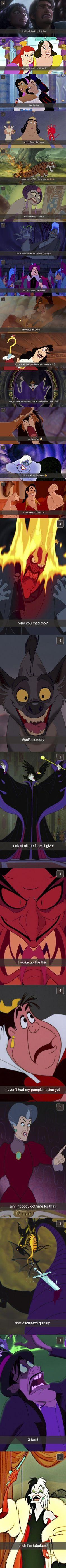 Disney Villain Snapchats