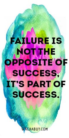 #quote #inspiration / Inspirational Quotes on Failure To Keep Going