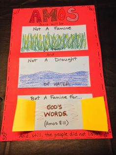 What would be worse than famine where there would be no food to eat? Kids Sunday School Lessons, Sunday School Activities, Sunday School Crafts, School Ideas, Preschool Bible Lessons, Bible Lessons For Kids, Bible Stories For Kids, Bible Study For Kids, Children's Bible