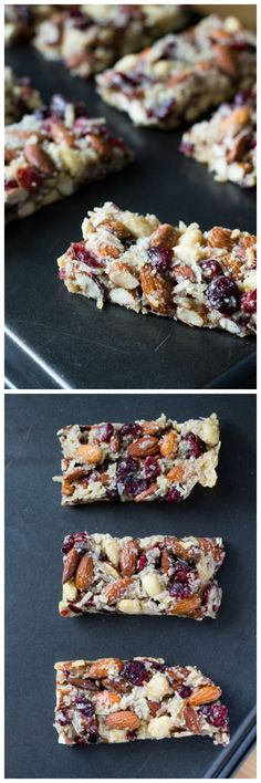 My favorite homemade snack bars. Grain free, no refined sugars & vegan - these Cranberry Almond Snack Bars are super chewy & completely addictive.