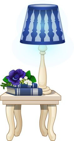 TABLE AND LAMP *
