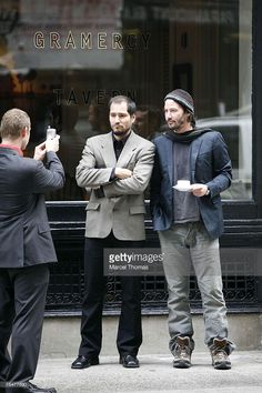 Keanu Reeves (right) at the Keanu Reeves Sighting in New York City - October 23, 2006 at Chelsea in New York City, New York.