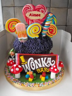 Charlie and the chocolate factory themed cake;