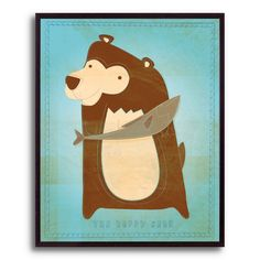 10.5 in. The Happy Bear by John W. Golden Framed Print | Shop at the Foundary