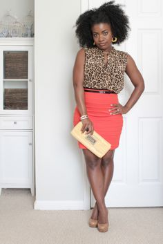 Got the orange skirt, and an animal print top. Just needed to find me some spring inspiration.