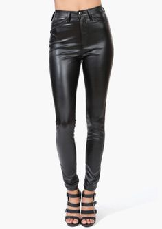Leather pants... Never used to like them, but I found a top I'd wear with these babies'n