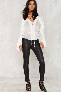 Nasty Gal In the Wings Sheer Top - Clothes | Best Sellers | Blouses