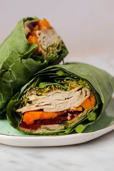 Use collard greens as a low carb and nutrient packed wrap! These Turkey Collard Wraps are customizable to your liking and paleo and Whole30 approved!