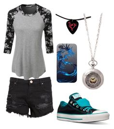 """""""Blue and Grey"""" by avagrods on Polyvore featuring Zoe Karssen, LE3NO and Converse"""