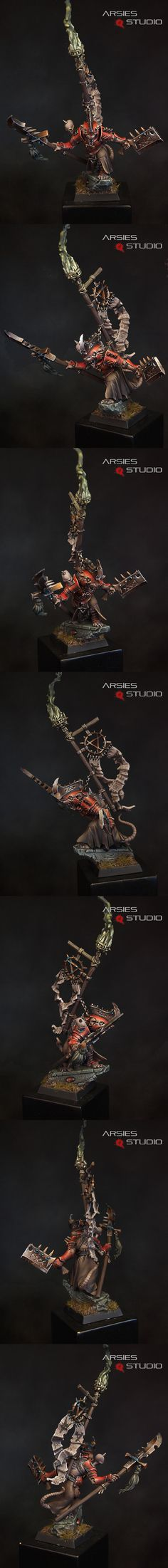 I love the different paint styles hobbyists have used on the Warlord from the Island of Blood box set. Too bad we had to re-base him for Age of Sigmar. ~CAI