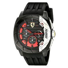 Ferrari hombre-reloj analógico de cuarzo para la DINA adaptador Chrono de silicona 0830205