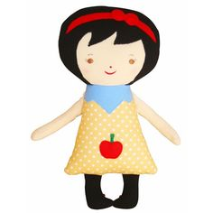 Lil' Snow White Woodland Friends Doll by Alimrose from Australia. An apple a day keeps the witches away!