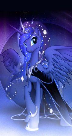 My little pony prinses luna Majic My Little Pony Poster, My Little Pony Unicorn, My Little Pony Drawing, Mlp My Little Pony, My Little Pony Friendship, Princesa Celestia, Celestia And Luna, Unicornios Wallpaper, My Little Pony Wallpaper