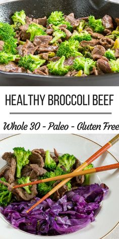 Sugar-free broccoli beef is the perfect recipe to make healthier take out at home. This simple recipe is also gluten-free and soy-free and works great for a variety of different diets. This quick and… Super Healthy Recipes, Healthy Options, Healthy Foods To Eat, Paleo Recipes, Healthy Snacks, Healthy Eating, Clean Eating, Paleo Meals, Health Foods