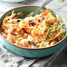 Pennsylvania Dutch Coleslaw Recipe -My mother used to make this salad on holidays. With all the cabbage that is grown here in the Northwest, the recipe is a real natural Read Potluck Recipes, Cooking Recipes, Casserole Recipes, Potluck Dishes, Side Recipes, Slow Cooking, Easter Recipes, Grilling Recipes, Healthy Cooking