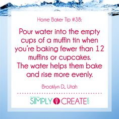 Home Baking Tip