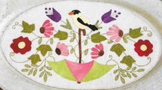 Wool Applique Pattern Spring is in the Air Table Mat, Sew Cherished, www.farmersattic.etsy.com, $8.99