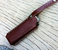 Clay brown Lighter case Keychain/ able to от SakatanLeather