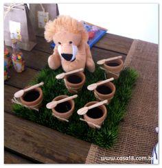 Festa artesanal - Safari Brigadeiro no vasinho de barro http://www.casa18.com.br