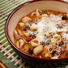 Crock Pot Minestrone Soup recipe | SkinnyTaste
