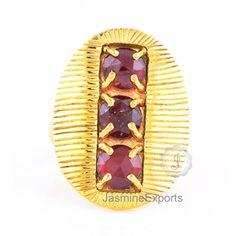 Beautiful Garnet Gemstone Ring, 925 Sterling Silver Gemstone Ring Jewelry
