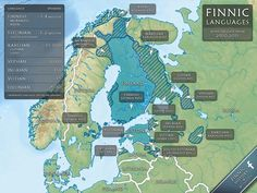 Map of the Finnic Languages by FinnicHerald