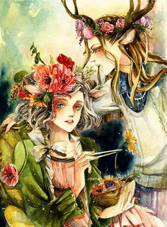 Traditional Illustrations by Charlotte-Exotique