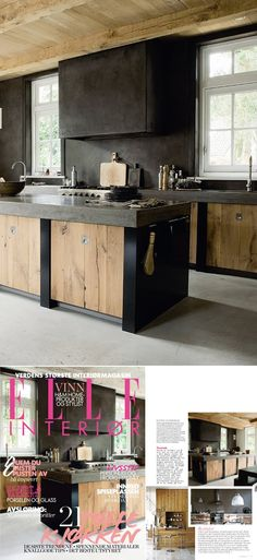 Country black and timber, simple kitchen