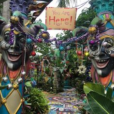 """Have you visited """"Whimzeyland"""" in Safety Harbor, yet?  These quirky and outrageously decorated homes can be found just south of Main Street in downtown. Visitors are welcome to wander the artistic grounds anytime of the year.  #whimzey #artists #art #discover #safetyharbor #LiveAmplified #LoveFL"""