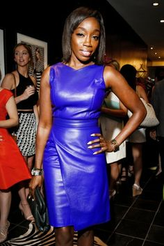 'Electric Blue' Lady Estelle in stunning leather sheath