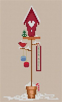 12 months of bird houses  cross stitch... put them all together, makes a great Christmas gift.