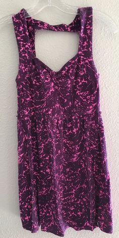 I Love H81 S Sundress Pink Floral Tie Dye Sleeveless Cotton Blend Forever 21 #ILoveH81 #Sundress #Casual