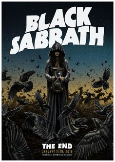 Black Sabbath The End Hard Rock, Heavy Metal Rock, Heavy Metal Music, Black Sabbath The End, Design Club, Print Design, Print Print, Black Sabbath Concert, Rock Vintage