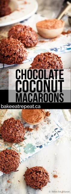 These chocolate coconut macaroons are super fast to make, only have 5 ingredients, and mix up in minutes. Plus, they taste fantastic!