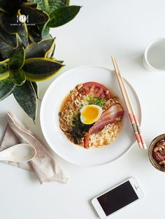 BACON AND EGG BREAKFAST RAMEN — 1-2 Simple Cooking