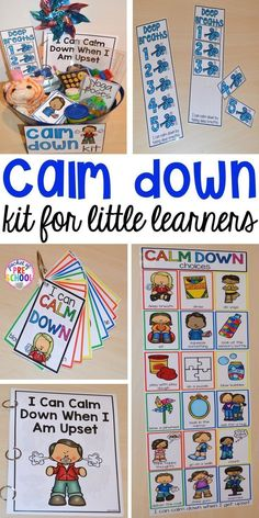 Calm Down Techniques will help you teach your students strategies to calm down when they are upset. It includes a class read aloud calm down posters calm down cards yoga cards deep breaths visual book list positive notes and more! Learning Activities, Preschool Activities, Calming Activities, Circle Time Activities, Preschool Themes By Month, Preschool Classroom Centers, Circle Time Ideas For Preschool, Aba Therapy Activities, Writing Center Preschool