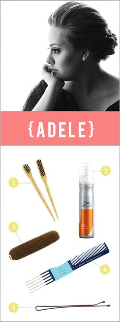 I love Adele's retro-chic hair! An easy step by step to achieve it!