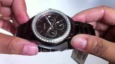 Women's Brown Aluminum Fossil Stella Boyfriend Watch ES2949